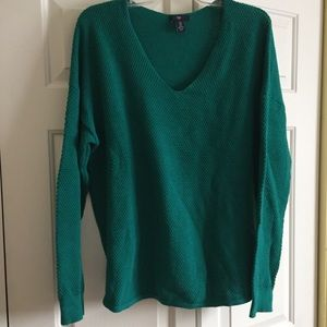 EUC teal green v neck sweater